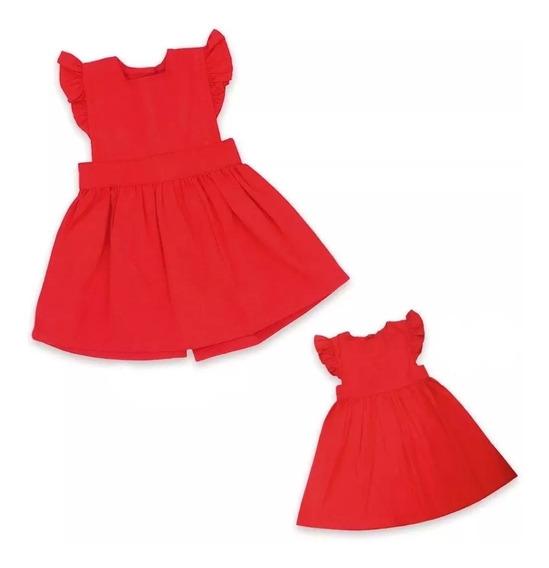 Bff Vestido Eres Fabulosa Rojo Conjunto Nena Muñeca Ropa Wg