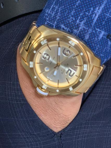 Relogio Masculino Atlantis G3216 Dourado Original
