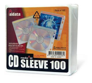 Folio Dvd Cd Para Carpeta 100 Unidades Aidata Transparente
