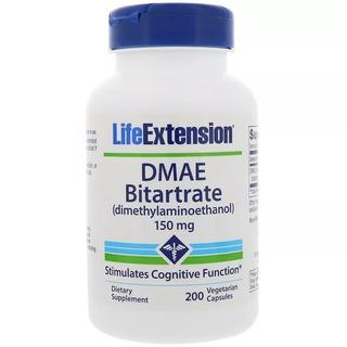 Dmae Bitartrate Life Extension 150 Mg, 200 Cáps E U A