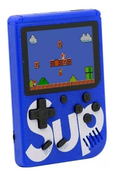 Vídeo Game Portátil 400 Jogos Internos Mini Game Sup Azul