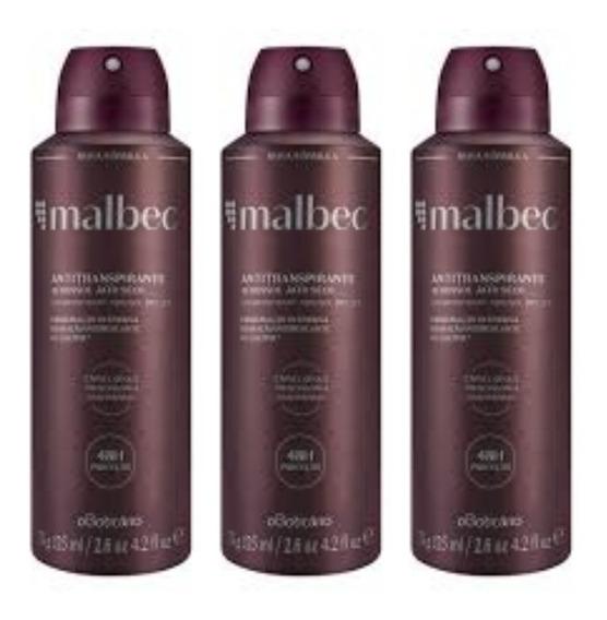 Malbec Tradicional Kit 3 Desodorante Antitranspirante