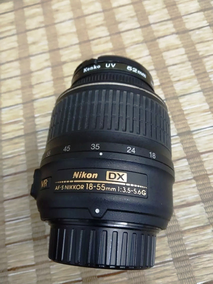Lente Nikon Af-p Dx Nikkor 18-55mm F/3.5-5.6 G Vr