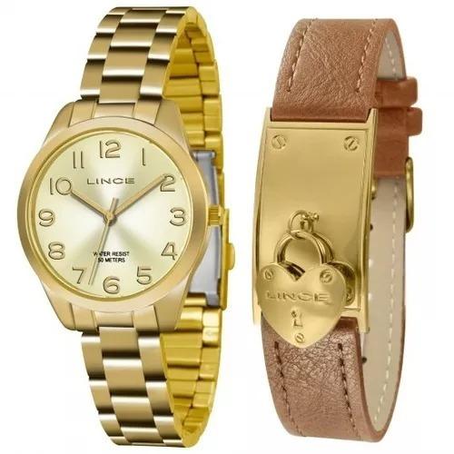 Relógio Feminino Lince + Pulseira