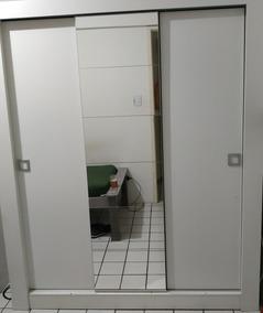 Guarda Roupa Casal 3 Portas De Correr Com Espelho