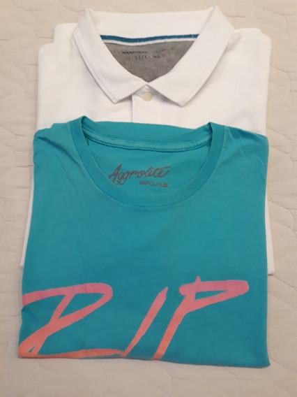 Kit Camiseta Polo E Camiseta Gola Redonda Rip Curl
