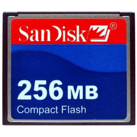 Cartão Compact Flash 256mb 15mb/s 50 Vias