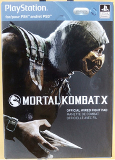 Control Mortal Kombat Wired Controller Para Ps4