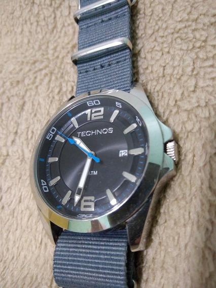 Relógio Technos 2315 Fundo Preto Azul