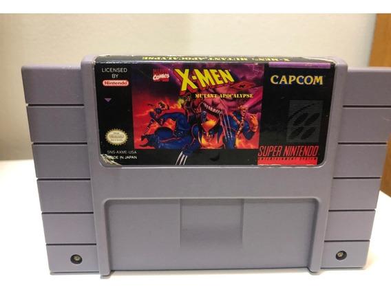 X Men Mutant Apocalypse Super Nintendo Snes Original
