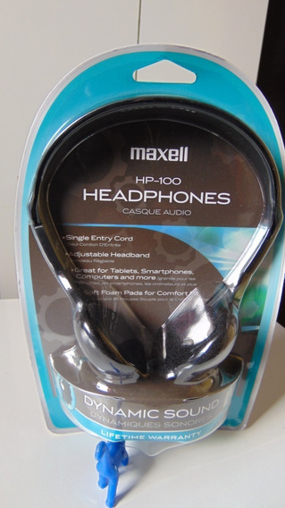 Headphones *maxell Hp-100 (supra-auricular Stéreo,cabo 1.2m)