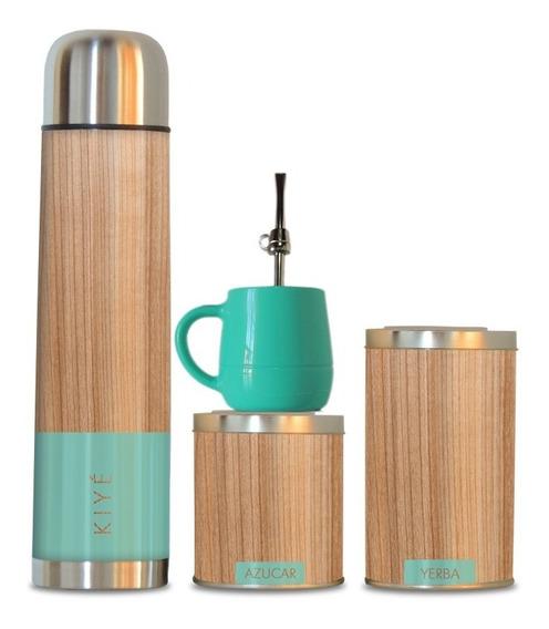 Set Matero Mate Bambú Aqua