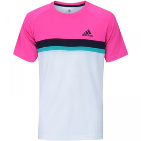 9829bad2e18 Camiseta Rosa Estampa Adida - Camisetas no Mercado Livre Brasil
