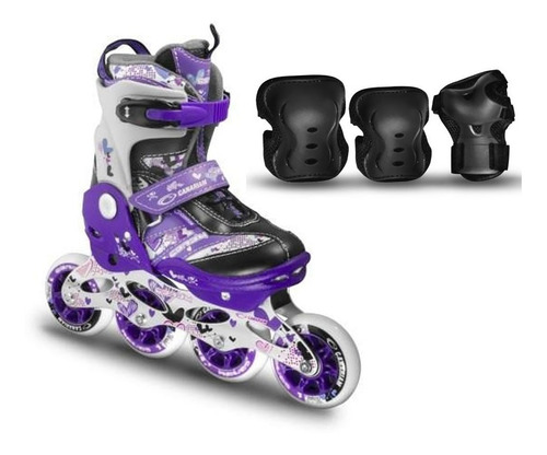 Combo Patines Canariam Way + Kit De Proteccion Canariam C4