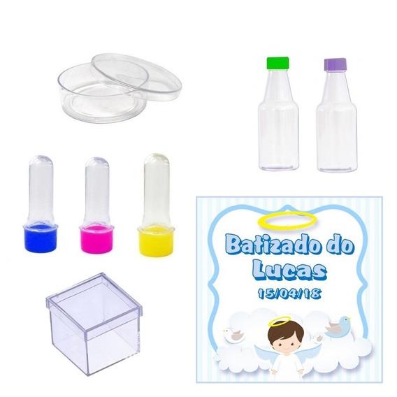 Kit Festa Batizado Menino Lembrancinha 120 Itens #