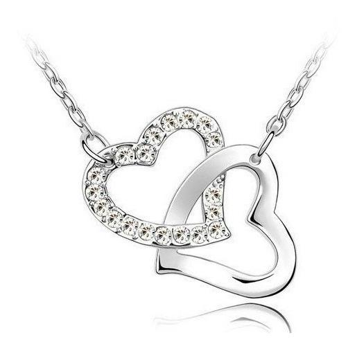 Dije Con Cristales Ocean Heart S9-12-51 Baño De Oro