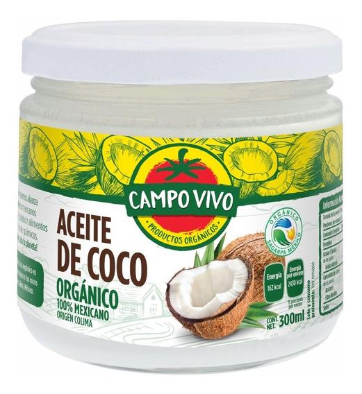 Aceite Coco Virgen Orgánico Campo Vivo 330ml