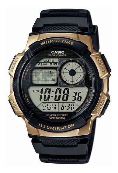 Relógio Casio Ae1000w-1a3vdf. 100 Metros. 100% Original.