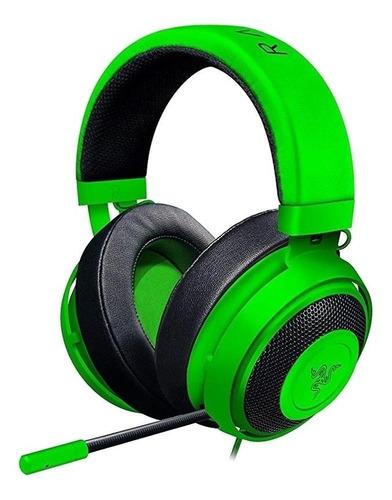 Imagen 1 de 3 de Audífonos gamer Razer Kraken razer green
