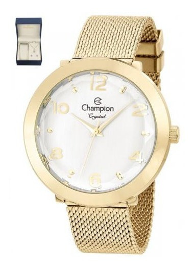 Relógio Champion Original Cn25207w Com Kit