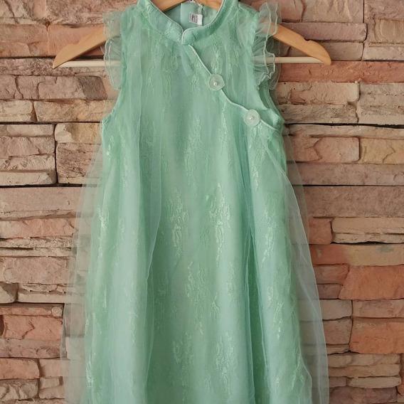 Vestido Talle 10. Verde Agua. Nuevo. Importado. Fiesta
