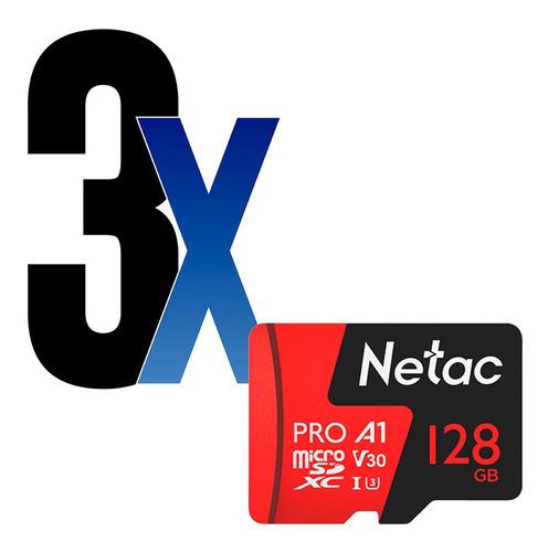 Cartão Memória Microsd 128gb Extreme Pro Netac 3un