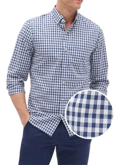 Camisa Hombre Casual Manga Larga Slim-fit Algodón Gap