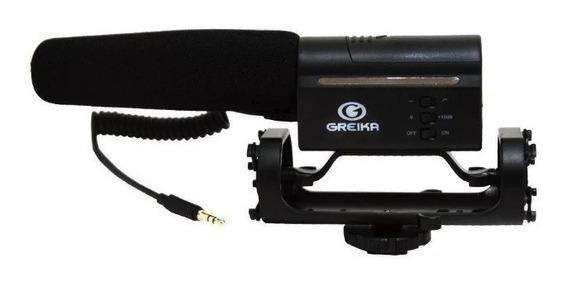 Microfone Direcional Condensador Gk-sm10 Para Câmeras Dslr