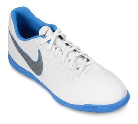 Tenis Salão Nike Tiempo Legend 7 Club Branco/prata/azul