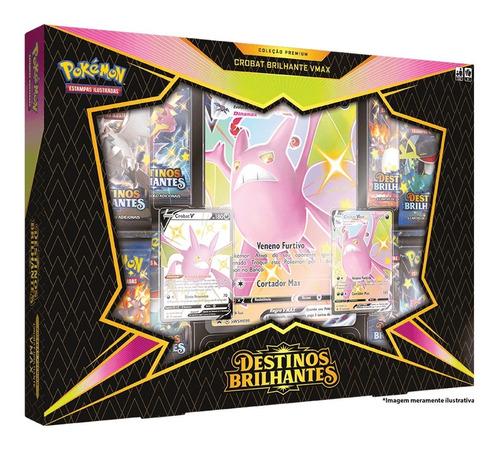 Card Game Pokémon Tcg Box Destinos Brilhantes Crobat Vmax