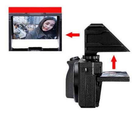 Uuurig Câmera Vlog Selfie Suporte De Tela Virar Espelho Para