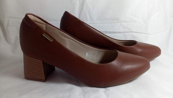 Sapato Feminino Scarpin Modare Grosso Conforto Marrom So 35