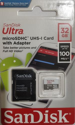 Imagem 1 de 2 de Kit 2 Cartão Memória 32gb Micro Sd Ultra 80mbs Sandisk Nfe