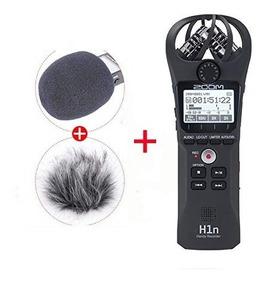 Gravador Digital Zoom H1n Profissional + Deadcat Corta-vento