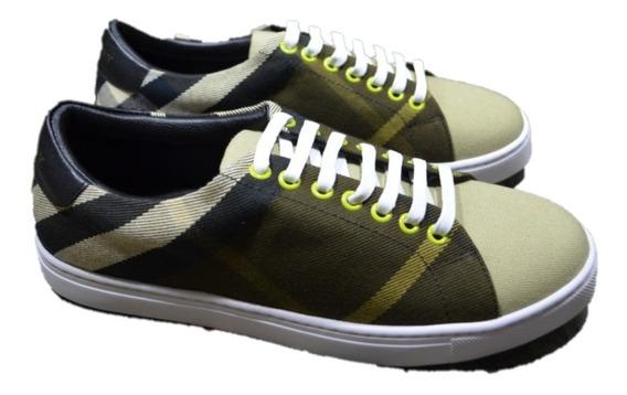 Tenis Sneakers Burberry Green Envio Sin Costo