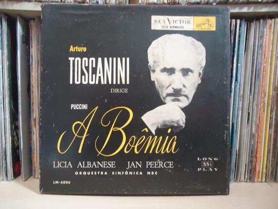 Box Discos Arturo Toscanini-a Boêmia / Com Livreto / 2 Lps