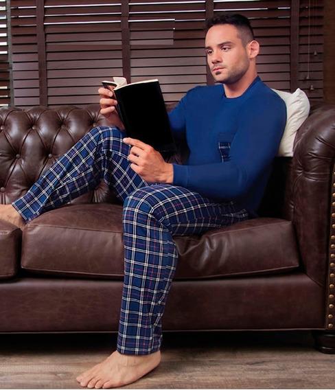 Pijama Invierno Manga Larga Pantalón Largo Hombre