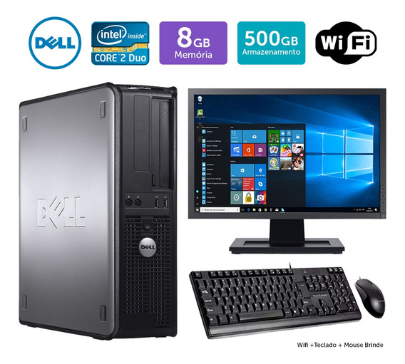 Desktop Usado Dell Optiplex 780int C2duo 8gb 500gb Mon19w