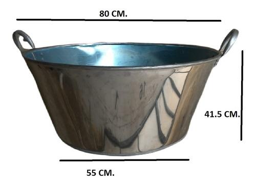 Paila Cazo Para Chicharrones Carnitas Acero Inox. 80 Cm.