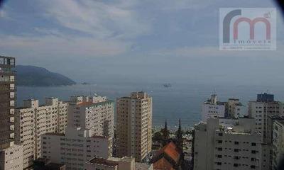 Apartamento Residencial À Venda, Boqueirão, Santos. Cond. Cap Ferrat, Andar Alto E Vista Mar! - Codigo: Ap2062 - Ap2062