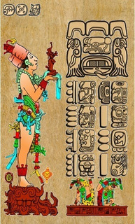 Carta Astral Maya Con Estela Maya En Papel Amate 100% A Mano