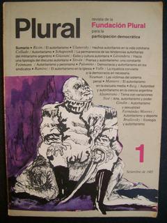 Revista Fundación Plural Nos. 1 Y 2 - Impecables!