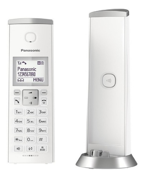 Teléfono Inalámbrico Panasonic Id Tgk210 Blanco