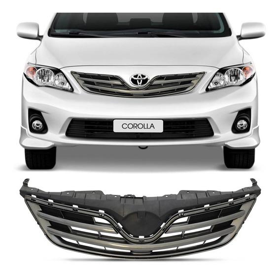 Grade Dianteira Central Toyota Corolla 2012 2013 2014 Preta