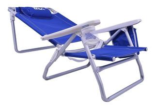 Cadeira De Praia Reclinável C/ Bolsa Térmica Kala - 499684