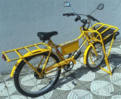 Imagem 1 de 10 de Bicicleta Elétrica Cargueira Wind Bikes 350 Watts 36 V 15ah