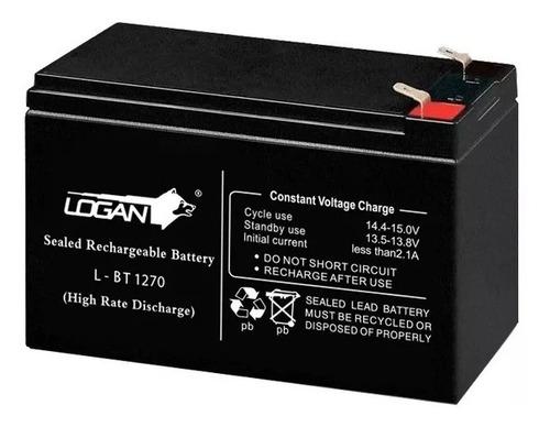 Imagen 1 de 3 de Bateria 12v 7ah Pila Recargable Logan Cerco Electrico Ups