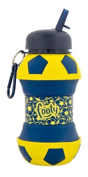 Botella De Silicona Flexible Pelota De Futbol- Footy Oficial