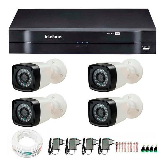 Kit 4 Câmeras Intelbras