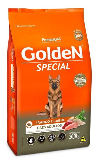 Ração Golden Special Ad. Frango E Carne 20kg